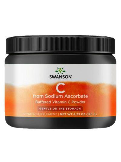 Swanson Gepuffertes Natriumascorbat-Vitamin-C-Pulver 120g