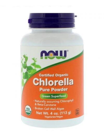 Now Foods Chlorella BIO Zertifiziertes Reines Pulver 113 g