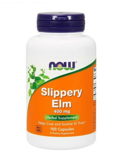 Now Foods Slippery Elm (Rotulme) 400 mg 100 Kapseln