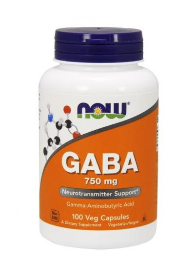Now Foods GABA 750 mg 100 Vege Kapseln