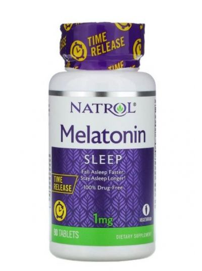 Natrol Melatonin Time Release (Zeitfreigabe) 1 mg, 90 Tabletten
