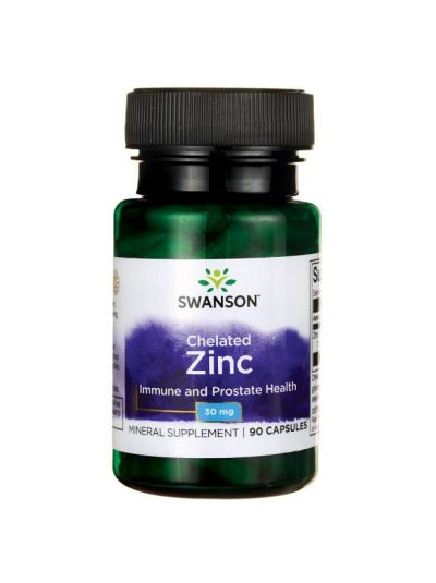 SWANSON Zinc CHELATED / ELEMENTAL 30 MG 90 CAPSULES