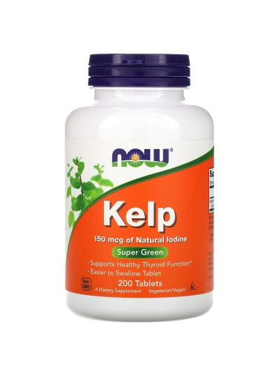 Now Foods, Kelp Seetang, (150 mcg Jod), 200 Tabletten