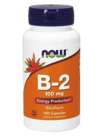 Now Foods B-2 Riboflavin 100 mg 100 Capsules