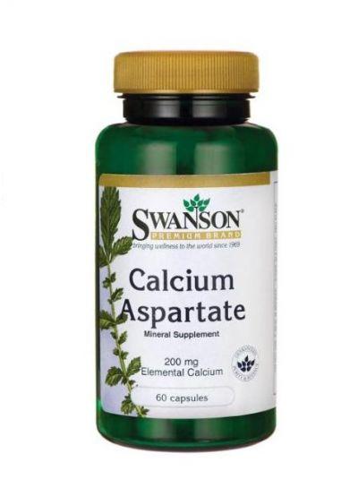 Swanson Kalzium Aspartat 200 mg Elementages 60 Kapseln