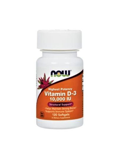 Now Foods Vitamin D-3 10.000 IU 120 Softgels