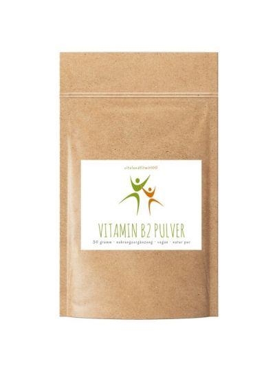 Vitalundfitmit100 Vitamin B2 (Riboflavin) Pulver 30 g