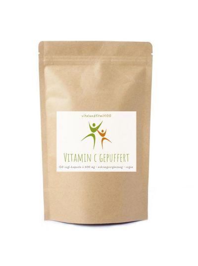 Vitalundfitmit100 Vitamin C Kapseln gepuffert 150 Stück à 600 mg